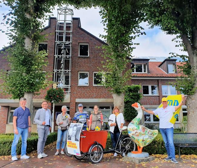 Gemeinde-Norden: FDP auf Lastenradtour